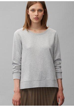 LONG SLEEVE ROUND NECK PRINT AT BACK - Sweatshirt - chalk grey melange