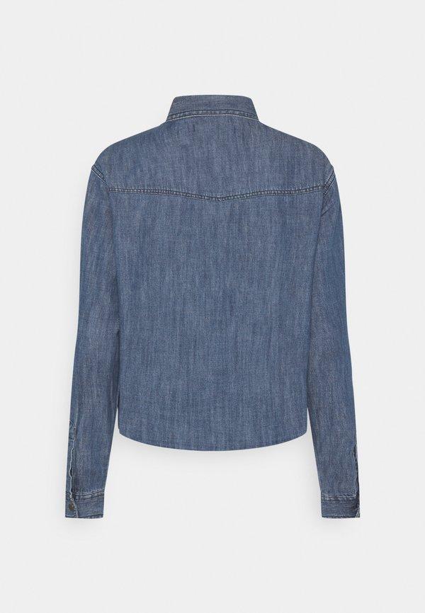 JDY JDYPOPPY LIFE RAW HEM SHIRT - Koszula - medium blue denim/niebieski denim APPQ