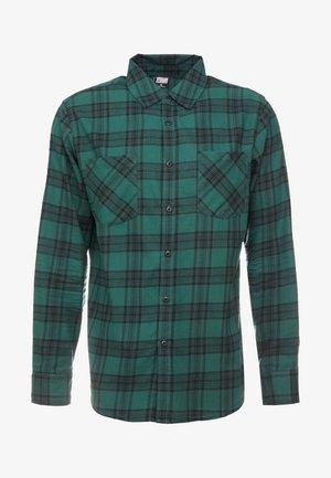 CHECKED  - Camisa - darkgreen/black