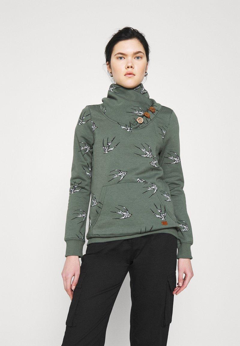 ONLY - ONLPIP NADINE HIGHNECK - Sweatshirt - balsam green