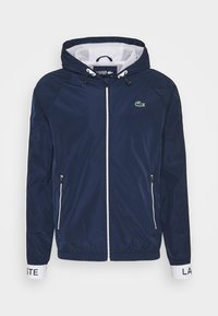 Lacoste Sport - TRACK JACKET - Träningsjacka - navy blue/ruby/white/navy blue - 5