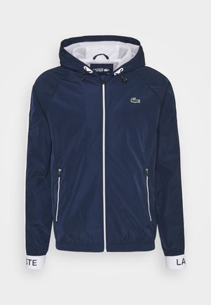 TRACK JACKET - Sportovní bunda - navy blue/ruby/white/navy blue