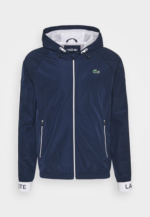 TRACK JACKET - Giacca sportiva - navy blue/ruby/white/navy blue