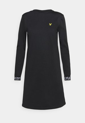 TRICOT DRESS - Korte jurk - jet black