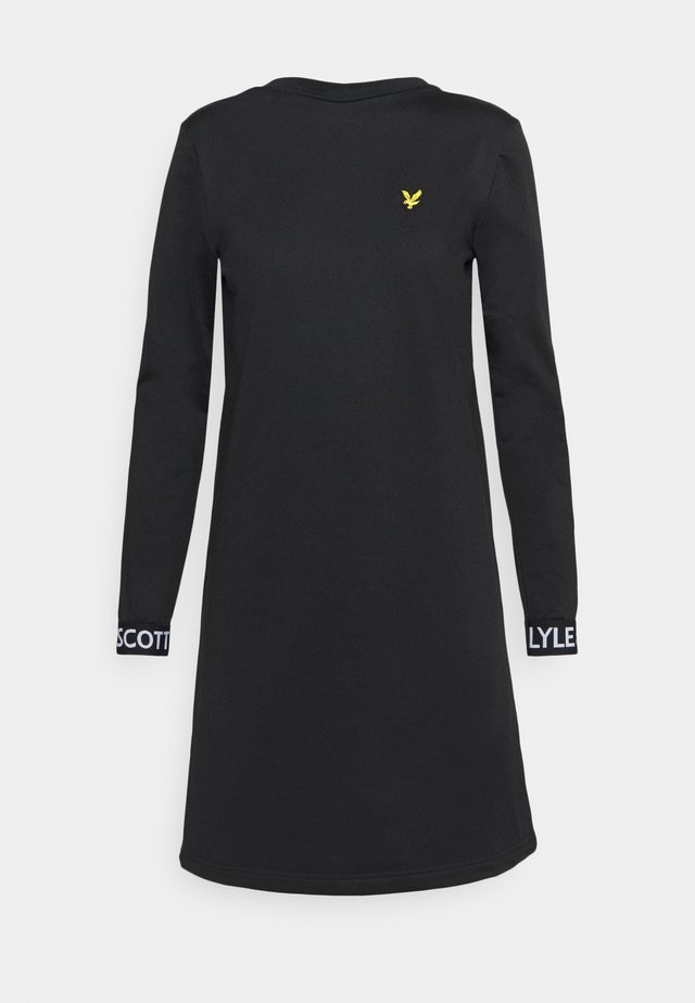 TRICOT DRESS - Day dress - jet black