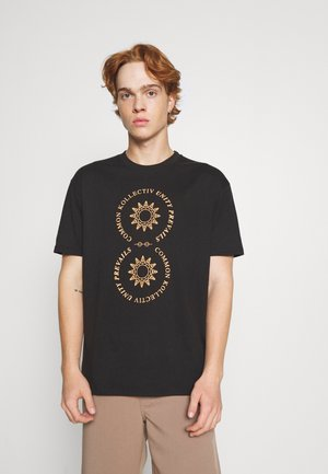 VISION UNISEX - Print T-shirt - black