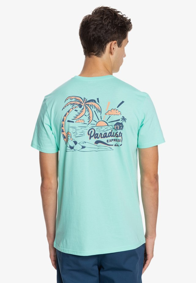 ANOTHER ESCAPE - T-shirt imprimé - turquoise