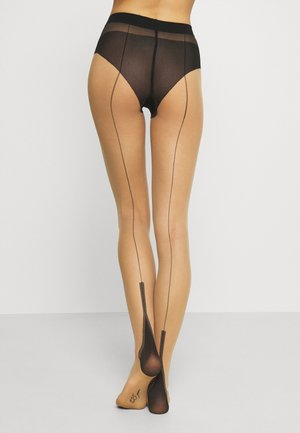 FALKE PIN UP 15 DENIER STRUMPFHOSE TRANSPARENT FEIN - Strømpebukser - pow/black