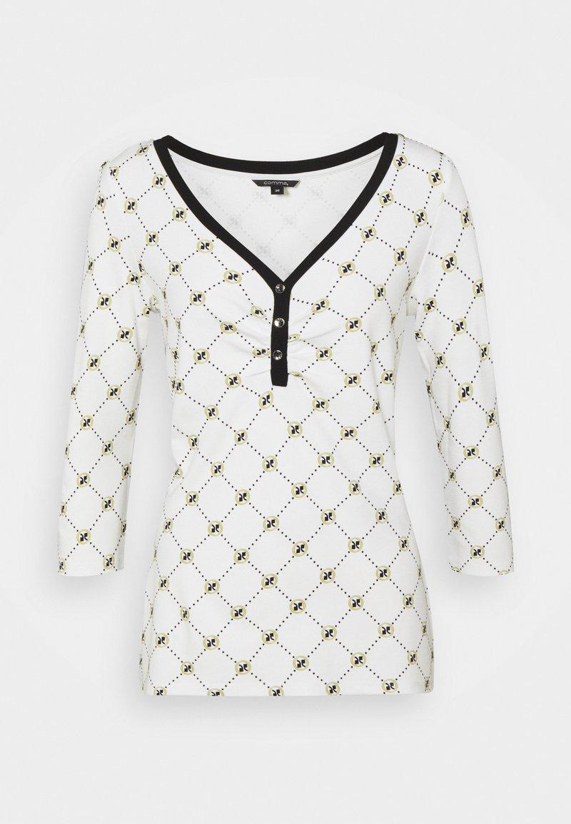 comma - T-shirt à manches longues - white