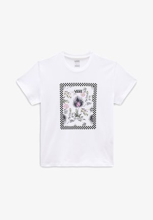 GR BORDER FLORAL GIRLS - Camiseta estampada - white