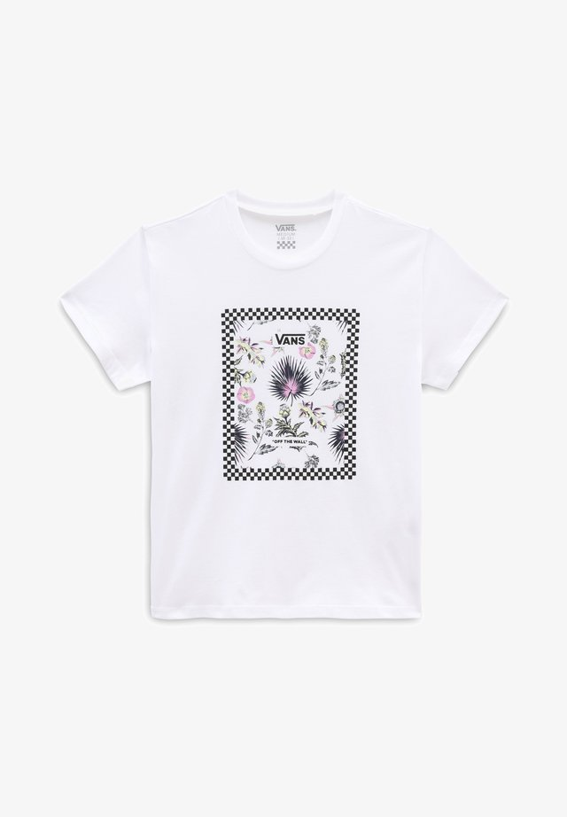 GR BORDER FLORAL GIRLS - Camiseta estampada - white