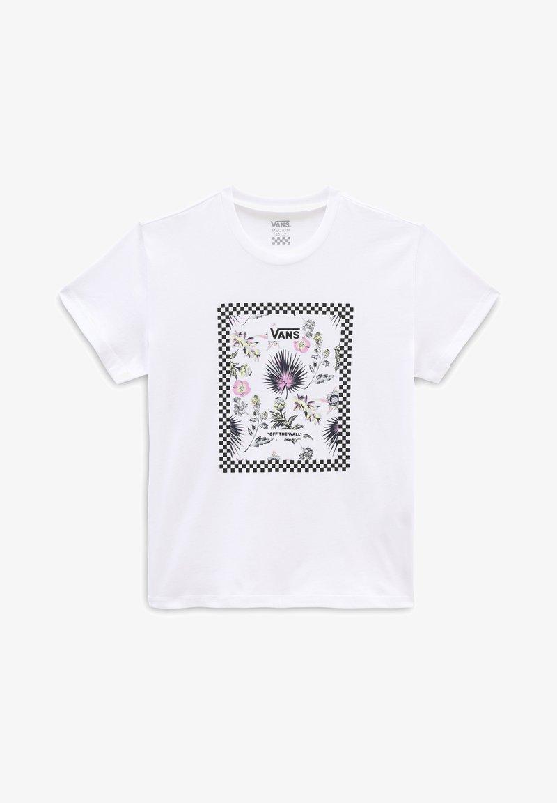 Vans - GR BORDER FLORAL GIRLS - Print T-shirt - white