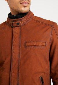 Oakwood - JAYDEN - Leather jacket - whisky - 7
