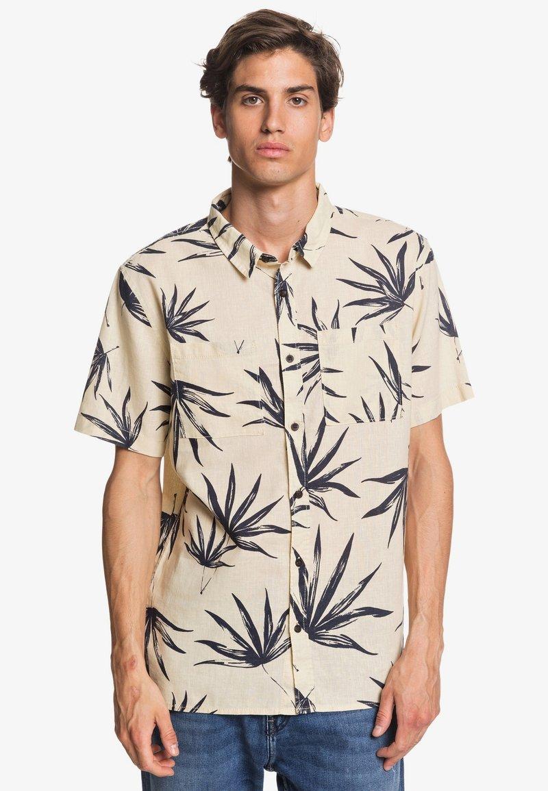 Quiksilver - DELI PALM - Shirt - parchment deli palm