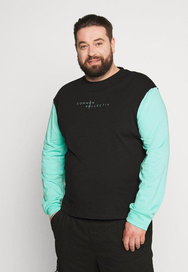 PLUS MOTIV LONGSLEEVE - Long sleeved top - black
