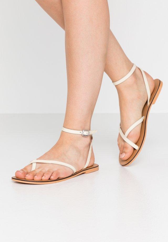 PANDA - Sandalias de dedo - offwhite