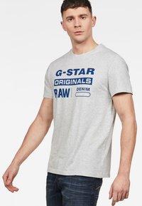 G-Star - GRAPHIC - Print T-shirt - grey - 0