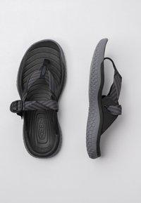 Keen - SOLR POST - Pool slides - black/steel grey - 1