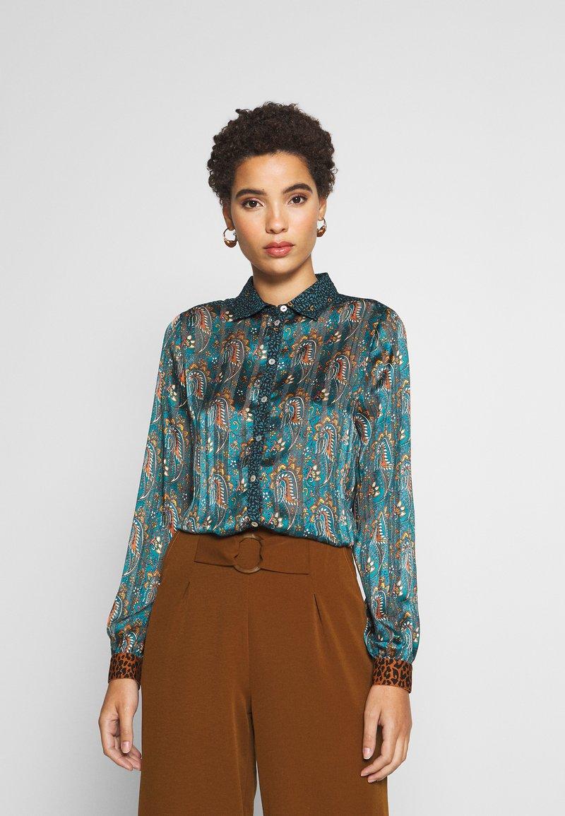 Esqualo - BLOUSE PAISLEY LEAVE PRINT - Bluser - multi-coloured