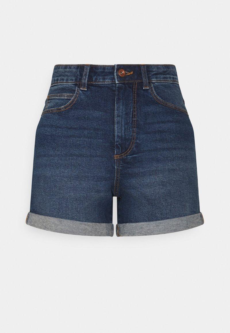 PIECES Tall - PCPACY  - Denim shorts - medium blue denim