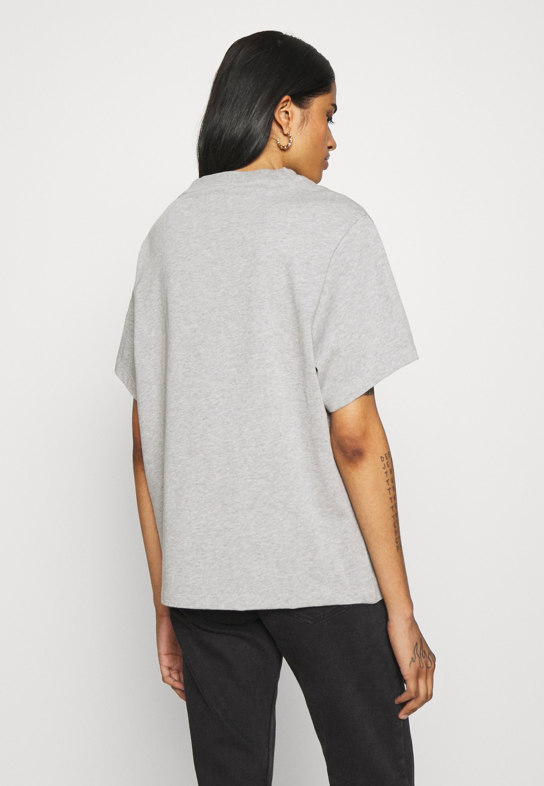 Adidas Originals T-shirt - T-shirts Med Print Medium Grey Heather/grå-melert