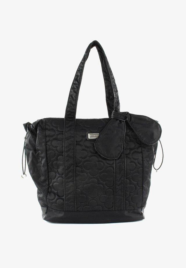 LUCKY NYLON SHOPPER - Handbag - black / shiny silver