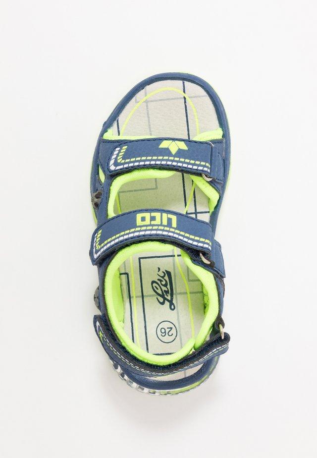 SPOTLIGHT V - Sandales de randonnée - marine/lemon
