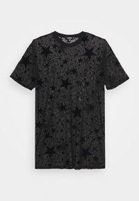 FESTIVAL EXCLUSIVE STAR FLOCK OVERSIZED T SHIRT DRESS - Denní šaty - black