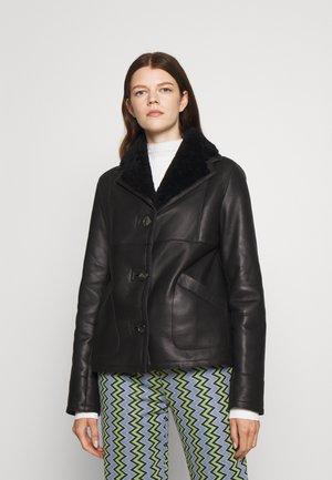 ROISIN RETRO JACKET - Leather jacket - black