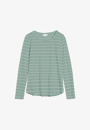 KARAA STRIPES - Long sleeved top - matcha-oatmilk