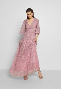 Maya Deluxe - FRONT CAPE SLEEVE DRESS - Abito da sera - pink - 1