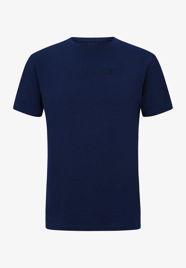 MATTEO - T-shirt imprimé - navy blau