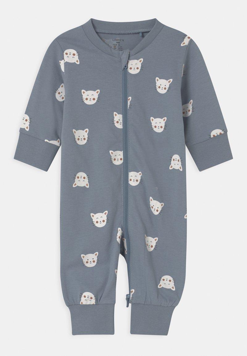 Lindex - CAT FACES UNISEX - Pyjamas - blue