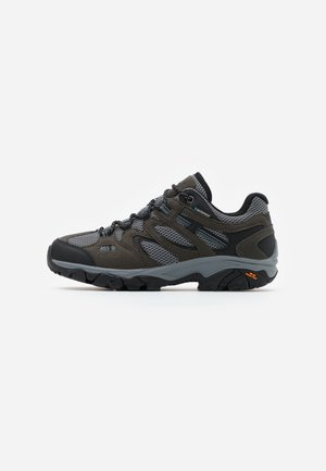 RAVUS VENT LITE LOW WATERPROOF - Hiking shoes - charcoal/cool grey/dark slate