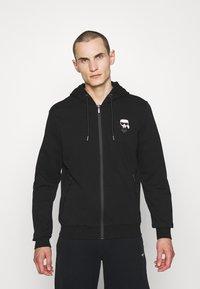 KARL LAGERFELD - HOODY JACKET - Zip-up hoodie - black - 0