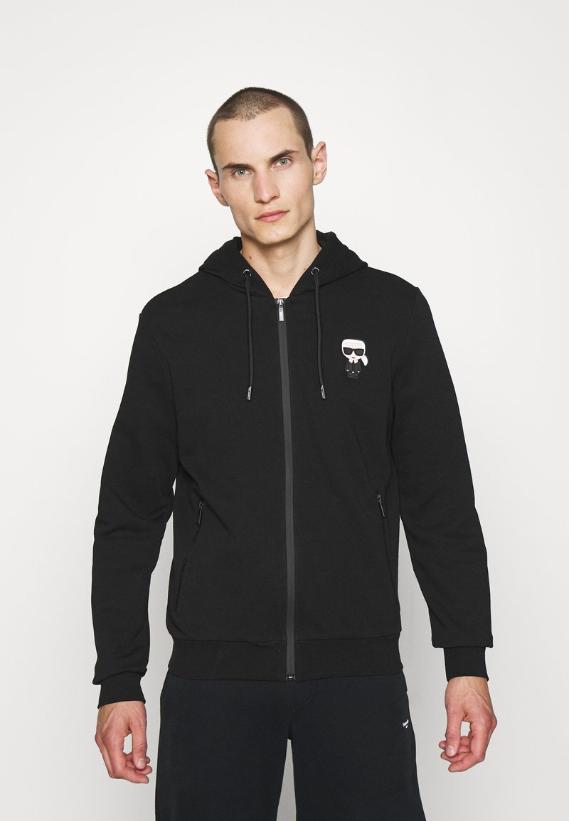 KARL LAGERFELD - HOODY JACKET - Zip-up hoodie - black