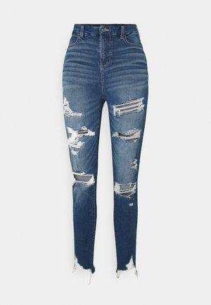 SUPER HI-RISE - Jeans Skinny Fit - tidal blue