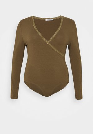 WITH LONG SLEEVES WRAP - Top - khaki