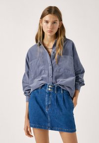 PULL&BEAR - Gonna di jeans - blue - 3