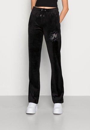 TINA SCATTER TRACK PANTS - Trainingsbroek - black