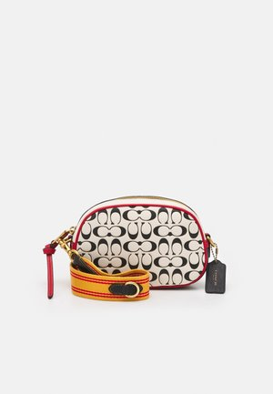 COACH X DISNEY KEITH HARING SIGNATURE  BADGE CAMERA CROSS - Across body bag - chalk/black