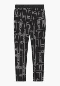 Calvin Klein Jeans - LOGO TAPE - Leggings - Trousers - black - 1