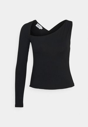 CROSS BACK - Long sleeved top - black
