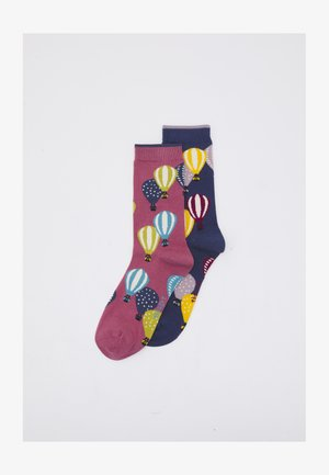 LOUISE AIR BALLON GLADYS BICYCLE SOCKS 2 PACK - Socks - dark rose pink/mineral blue