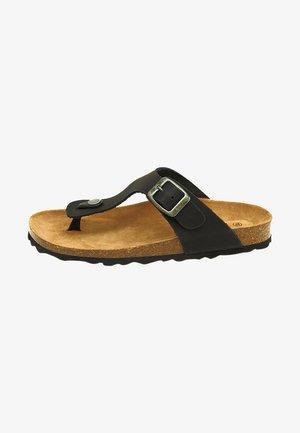 BIO RUFFY - Sandalias de dedo - black
