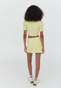 PULL&BEAR - A-line skirt - light green - 2