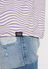Vintage Supply - STRIPE TEE - Print T-shirt - purple - 5
