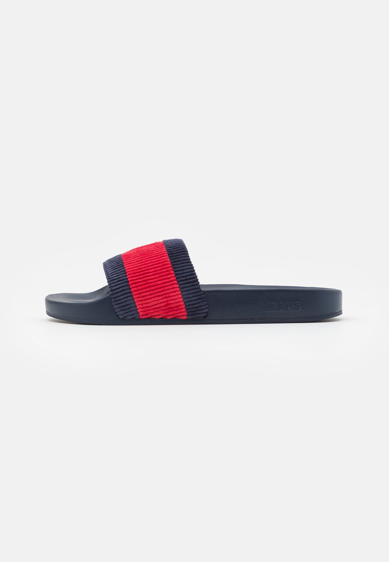 Tommy Jeans - CORDUROY FLAG POOL SLIDE - Mules - white