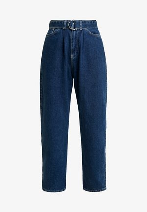 PANTS WITH BELT - Relaxed fit jeans - blue