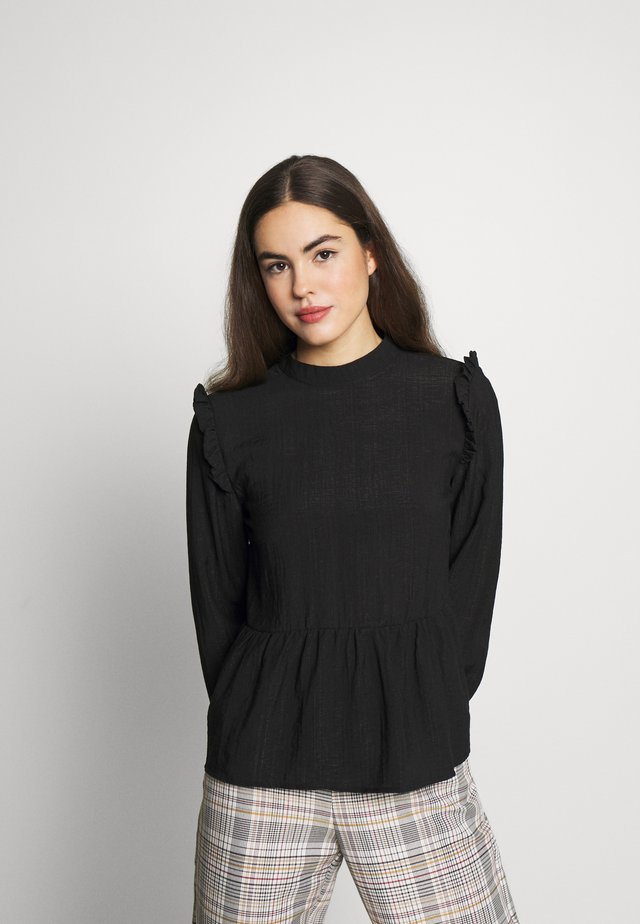 NMMARTINE FRILL - Blouse - black